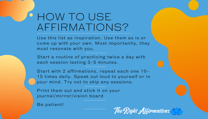 how to use affirmations banner