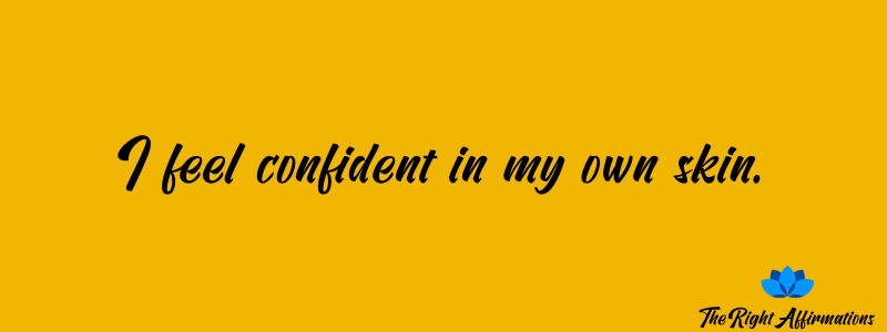 affirmations about being confident of your weight