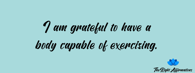 affirmations about exercising for weight loss