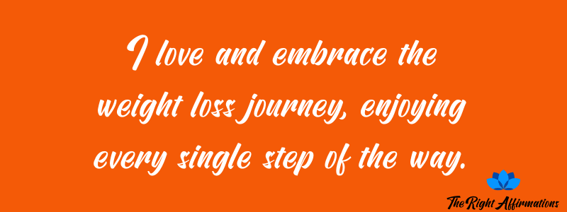 affirmations about weight loss journey