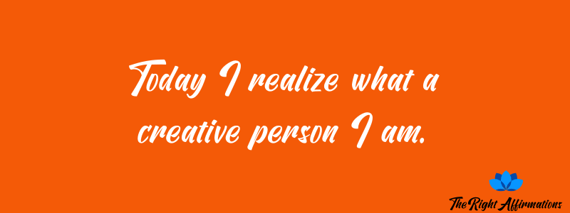 the right affirmations for creativity